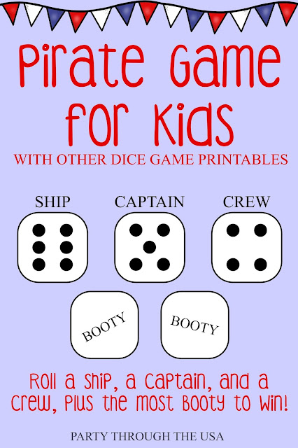 Travel Dice Games for Kids // Party Through the USA // games in an Altoid Tin // portable and washable games for camping and travel with kids // sneak in learning through play