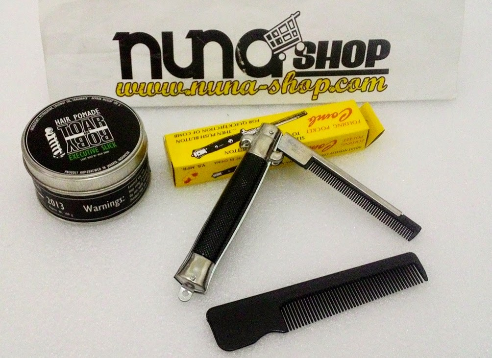 Paket Hemat Pomade Toar And Roby Executive Slick + Switchblade Comb