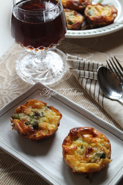 Mini Crustless Broccoli Quiche Sedap