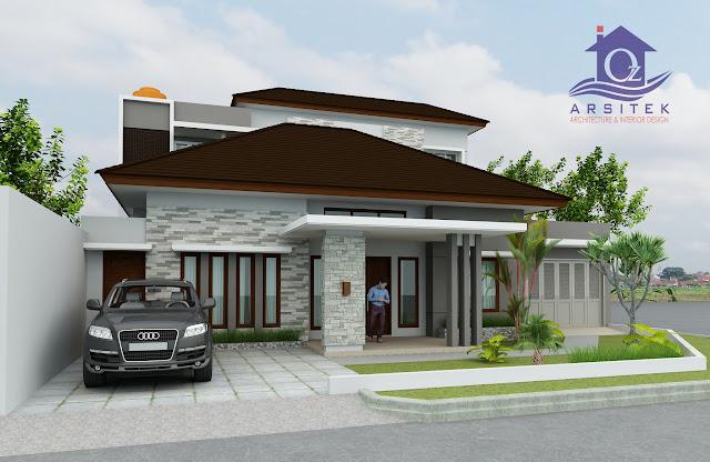 Desain Eksterior Rumah Bapak Wiwid di Solo
