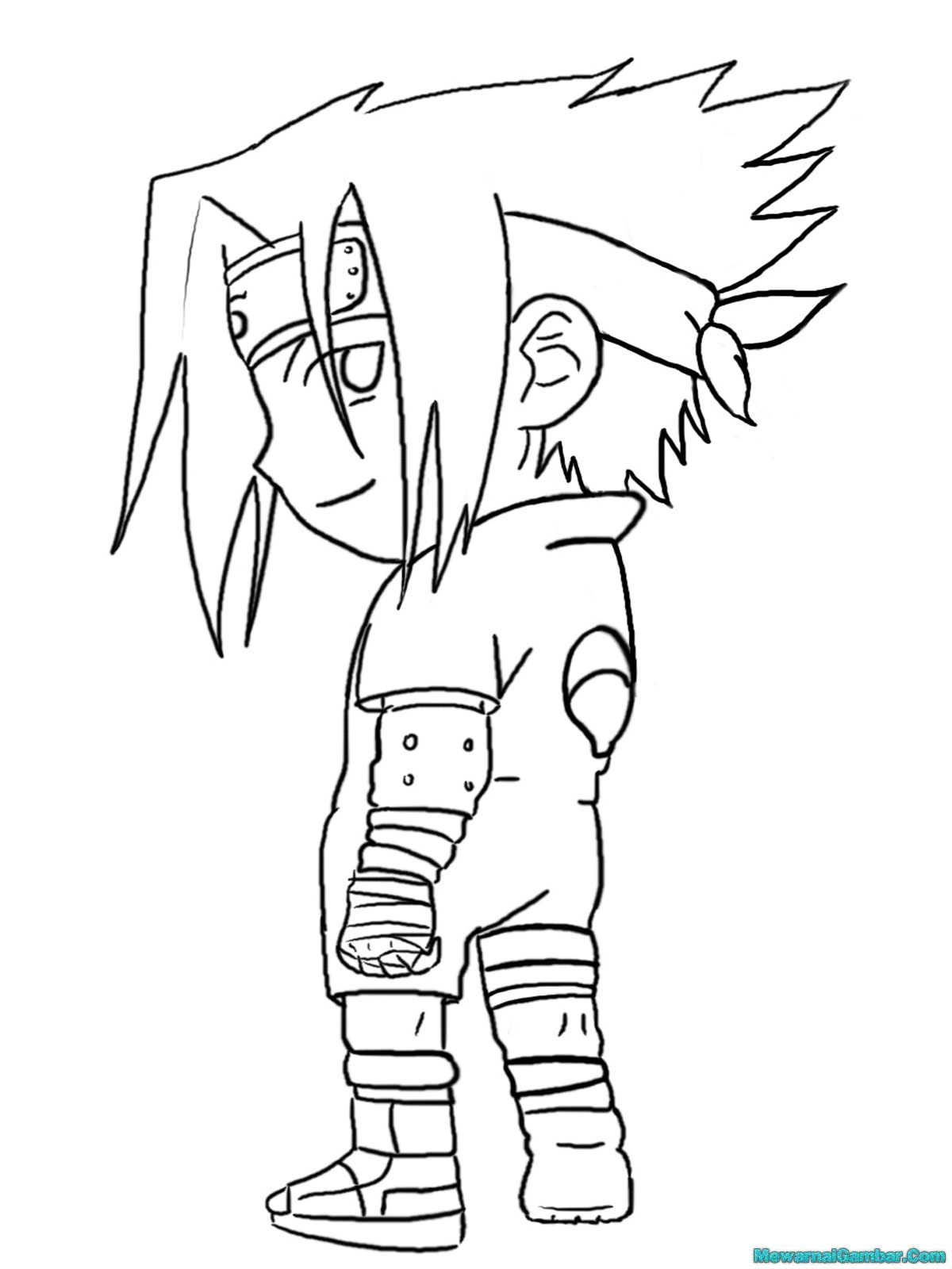 Gambar Mewarnai Naruto Dan Sasuke