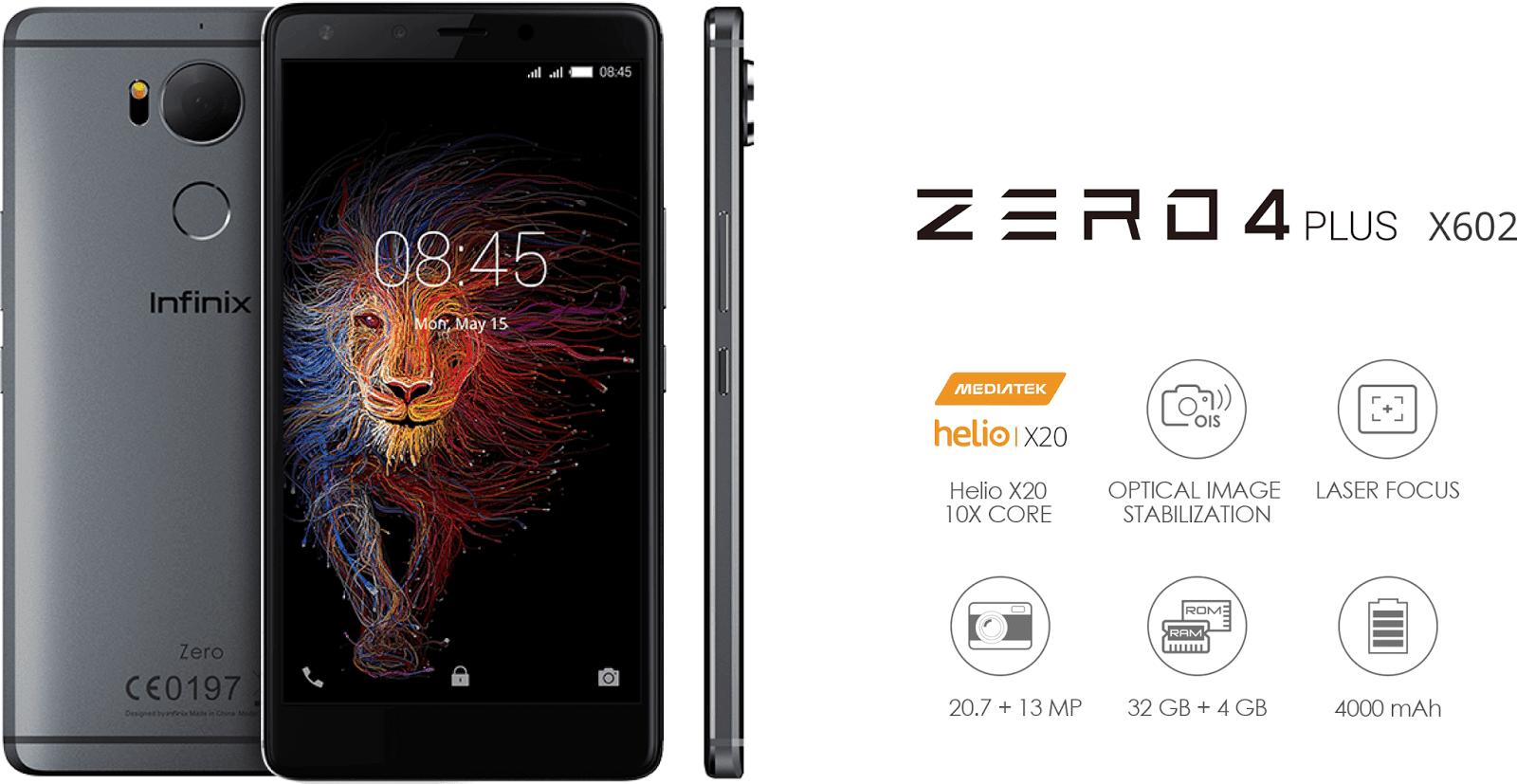 WOW Inilah Spesifikasi Infinix Zero 4 Plus (X602) Berikut Dengan Harganya Yang Sangat Fantastis ! !