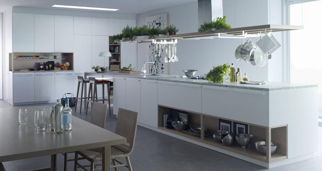 M dulos abiertos en la cocina con un toque de naturaleza for Cocina 13 metros cuadrados