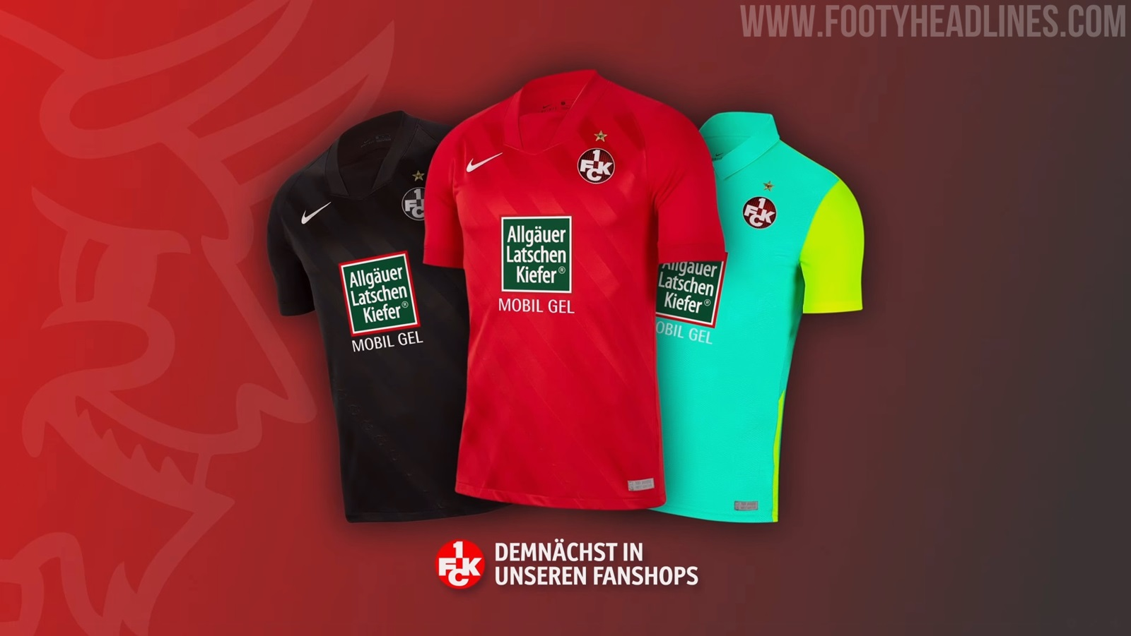 Kaiserslautern 20 21 Away Third Kits Unveiled Footy Headlines