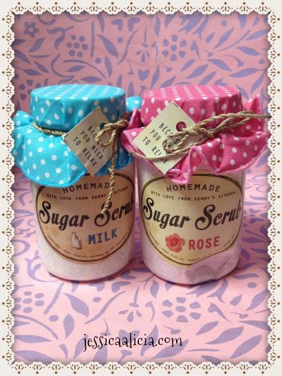 Review : Homemade Sugar Scrub Aromatherapy by PrettyRecipe by Jessica Alicia