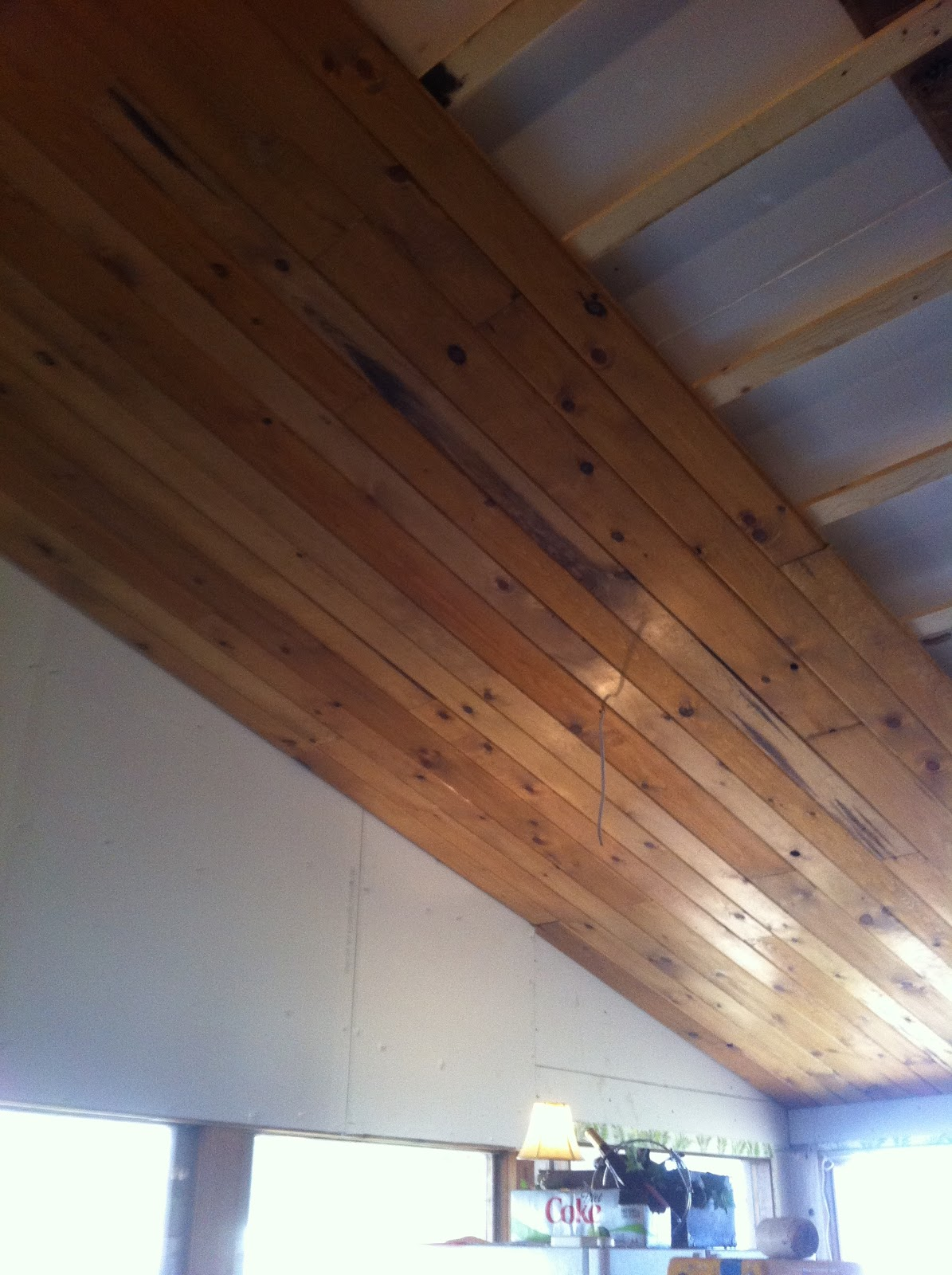 Once Upon a Cedar House: Installing a Pine Tongue and ...