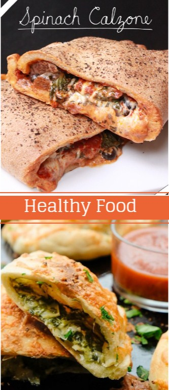 Healthy Snacks for Weight Loss - Spinach Calzone