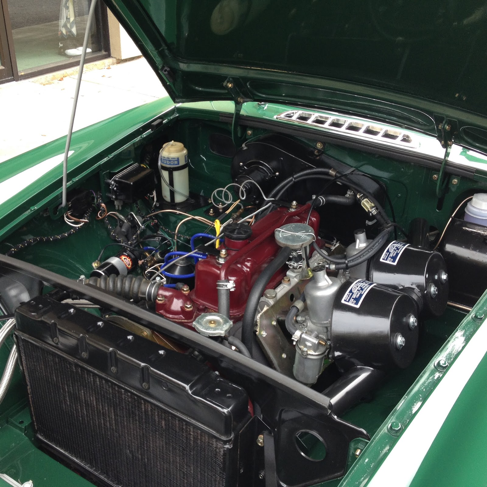 newly rebuilt engine transmission and differential no rust lots of photos of each phase of the restoration this is basically a brand new car  [ 1600 x 1600 Pixel ]