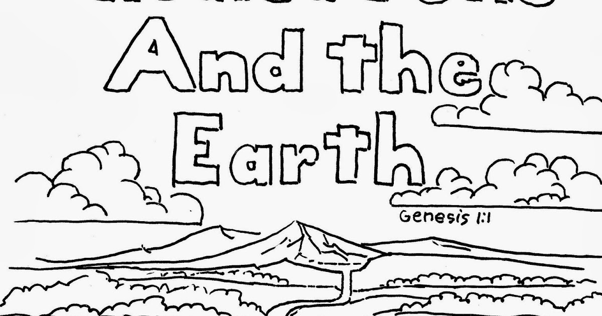 Coloring Pages for Kids by Mr. Adron: Genesis 1:1 Coloring ...