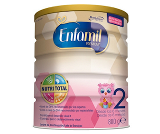 Lista dos tipos de leites em pó, adaptados ou de fórmula - enfamil 2