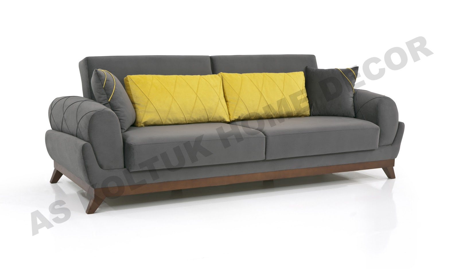 firstclass modern armchair. For sale brand new grey and yellow mustard sofa set with modern design  brown wood legs made in Turkey high quality materials AS Koltuk Home Decor Sale Grey Yellow Mustard Modern Sofa Set