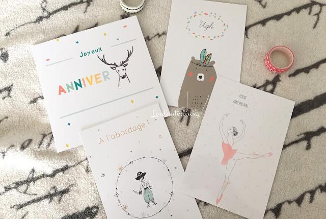 De belles cartes d'anniversaire Popcarte !