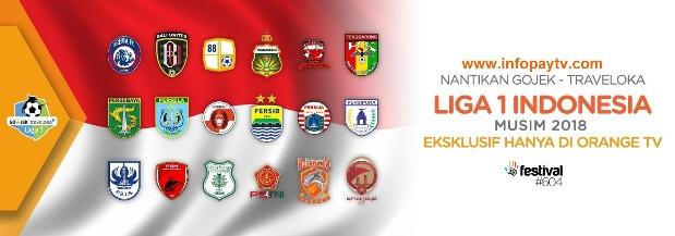 Gojek Traveloka Liga 1 Indonesia 2018 Tayang di Orange TV