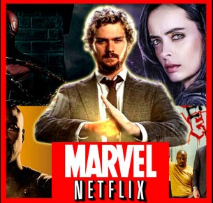 As séries da MARVEL/NETFLIX