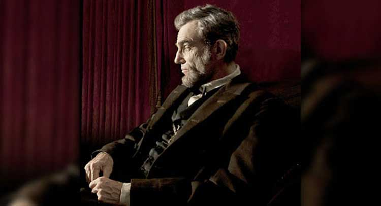 Daniel Day Lewis in Lincoln, directed by Steven Spielberg