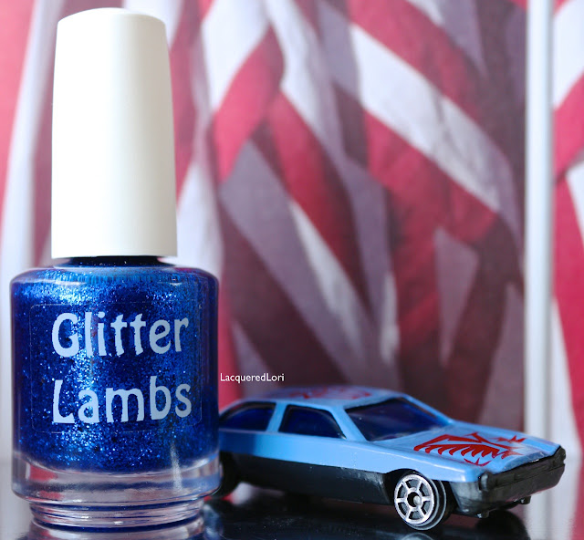 "Glitter Lambs ""Blue Bird In My Car""  Glitter Topper Nail Polish  Pic By @LacqueredLori"