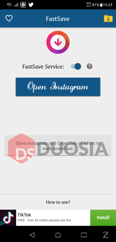 Cara Download Foto Instagram menggunakan Fast Save di Android