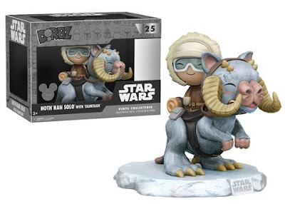 D23 Expo 2017 Exclusive Star Wars Hoth Han Solo with Taun Taun Dorbz Ride Vinyl Figures by Funko