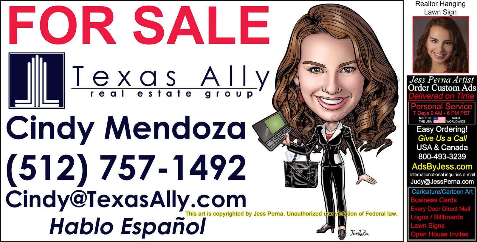 real estate agent ads by jess perna
