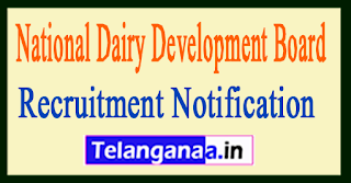 NDDB National Dairy Development Board Recruitment Notification 2017
