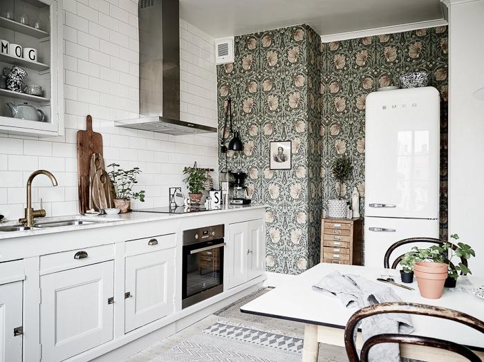 ideas para decorar tu cocina de color blanco con originales de moda