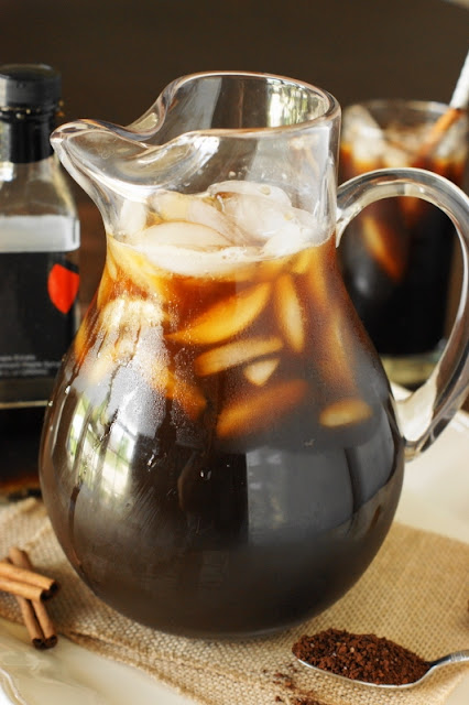 Maple Iced Coffee Made Easy {By the Glass or By the Pitcher}