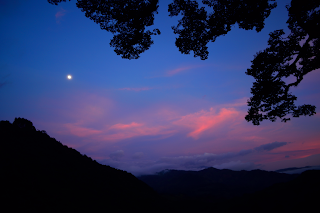 moon in colorful sky