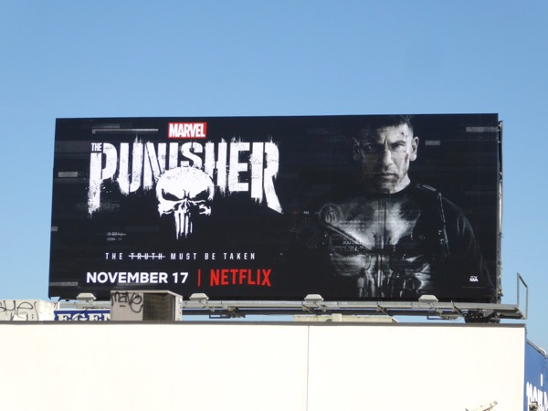 Punisher series launch billboard