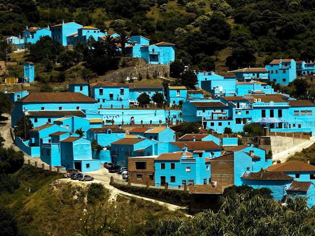 Juzcar, Spain, Smurf, blue houses