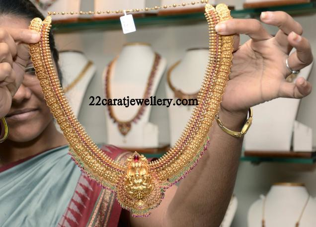 Traditional Gold Antique Long Chain Haram By Prince