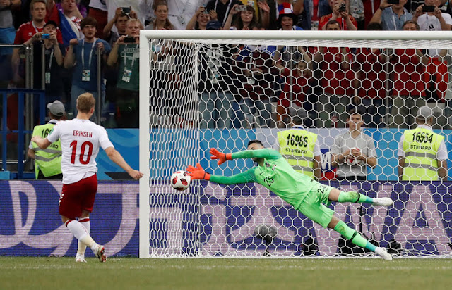 Croatia beat Denmark 3-2 on penalties