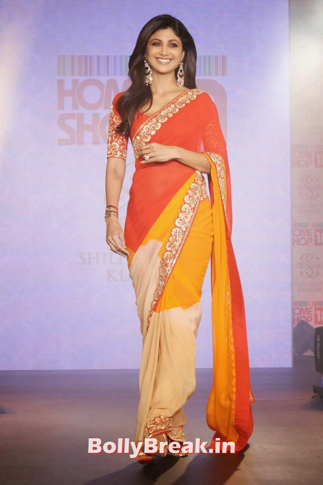 Bollywood Actress Shilpa Shetty Hot Photos In Sexy Orange -6931