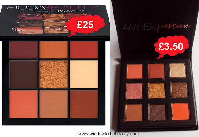 Huda Beauty warm brown cheap dupe