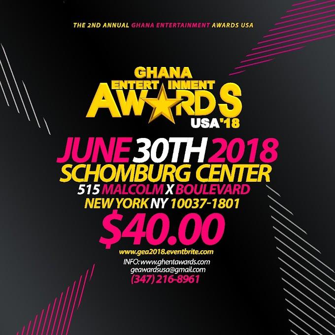 2018 Ghana Entertainment Awards USA announces nominees