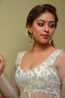 Anu Emmanuel in a Transparent White Choli Cream Ghagra Stunning Pics 046.JPG
