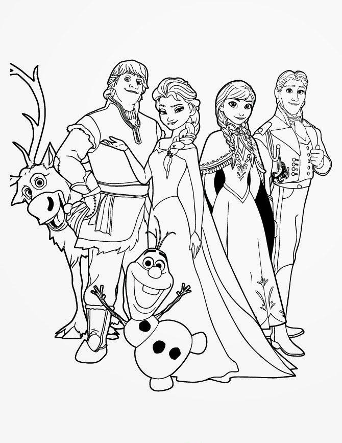 15 Beautiful Disney Frozen Coloring Pages Free ~ Instant ... | disney frozen colouring pages to print