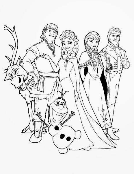 Frozen anna and hans coloring pages for Frozen sven coloring pages