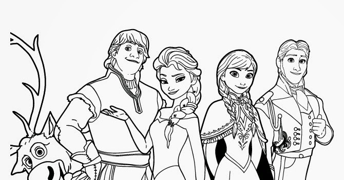 15 Beautiful Disney Frozen Coloring Pages Free