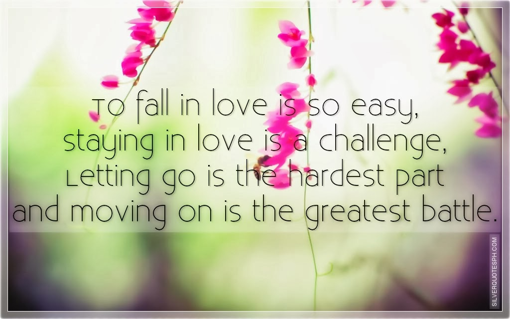 To Fall In Love Is So Easy