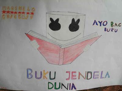 Poster pentingnya membaca buku