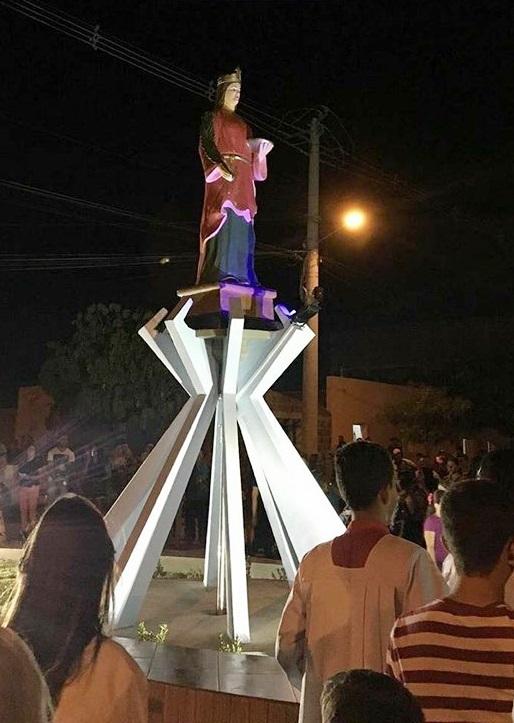 Estátua de Santa Luzia é inaugurada em Rafael Fernandes