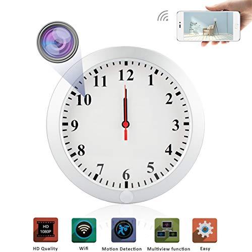 wall Clock Hidden Camera Nanny Cam 1080P WiFi IP with Audio Motion recorder DVR