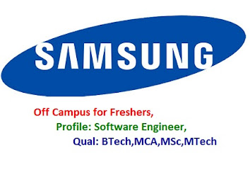 Samsung Off Campus for Freshers