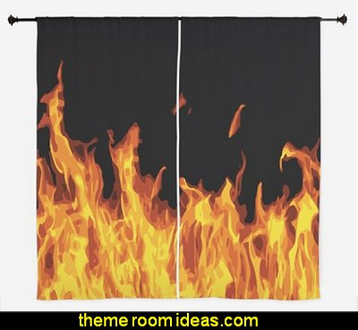 Flames Curtains