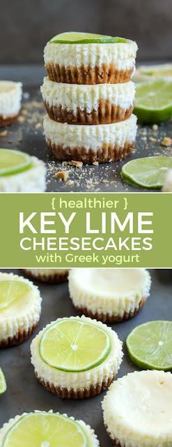 Mini Key Lime Cheesecakes With Greek Yogurt
