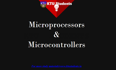 Note for Microprocessors and Microcontrollers CS305 | Module 1