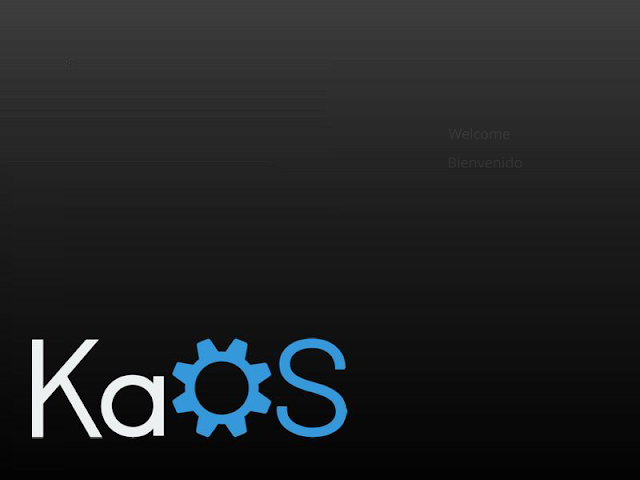 KaOS welcome screen