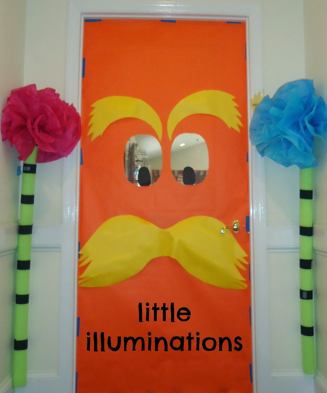 little illuminations: Lorax Door Decor