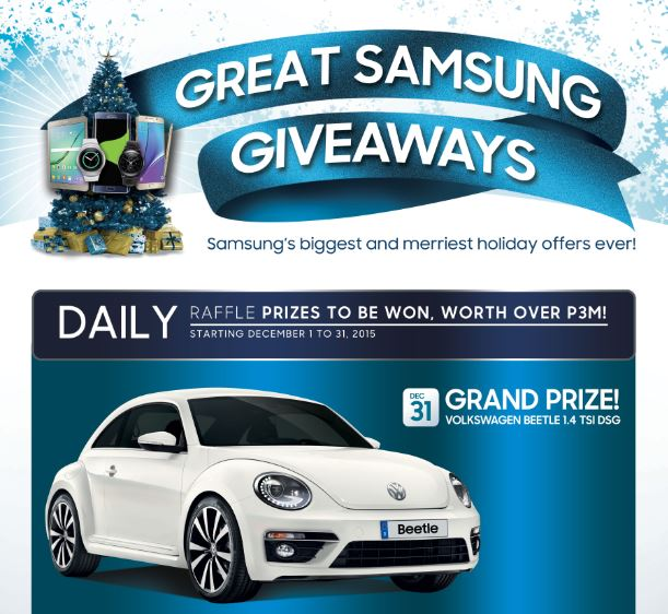 Have the best holidays with Great Samsung Giveaways promo