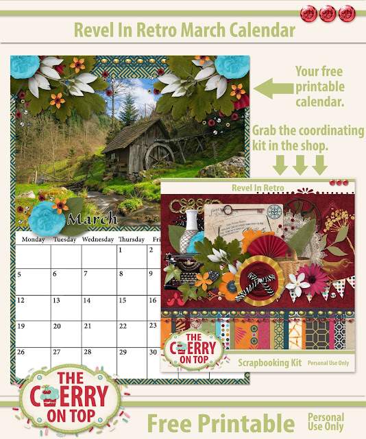 free printable calendar for March